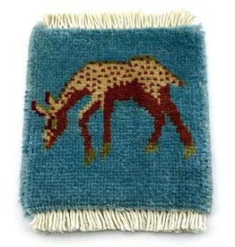 Bunyaad Pakistan Deer Mug Rug Blue