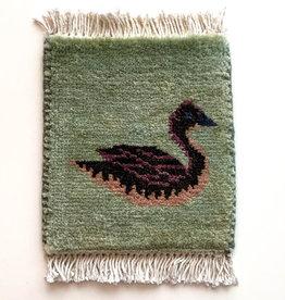 Bunyaad Pakistan Duck Mug Rug Grey Green