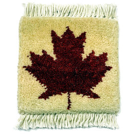 Maple Leaf Mug Rug Ivory
