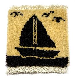 Sailing Mug Rug Ivory