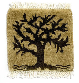 Bunyaad Pakistan Tree of Life Mug Rug Khaki