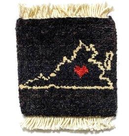 Virginia Love Mug Rug Black