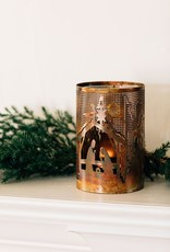 Bright Nativity Candleholder