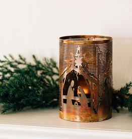 Ten Thousand Villages Bright Nativity Candleholder