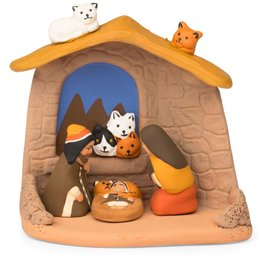 Ten Thousand Villages Cat Lovers Nativity