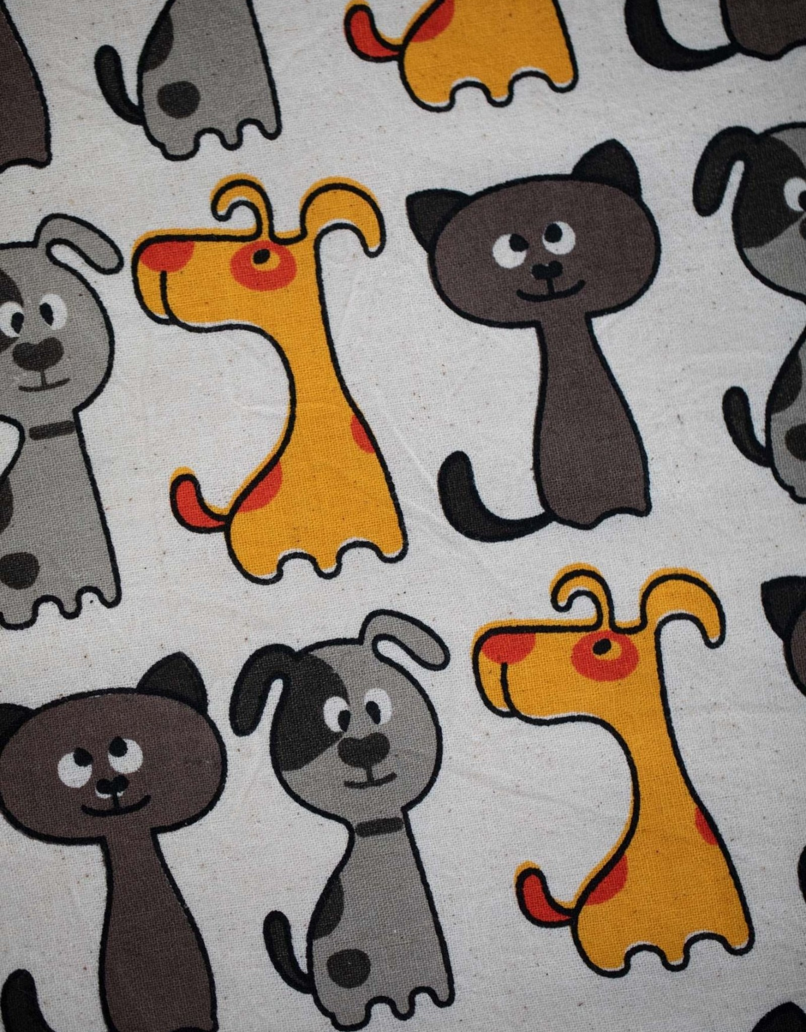 Cats and Dogs Tea Towel