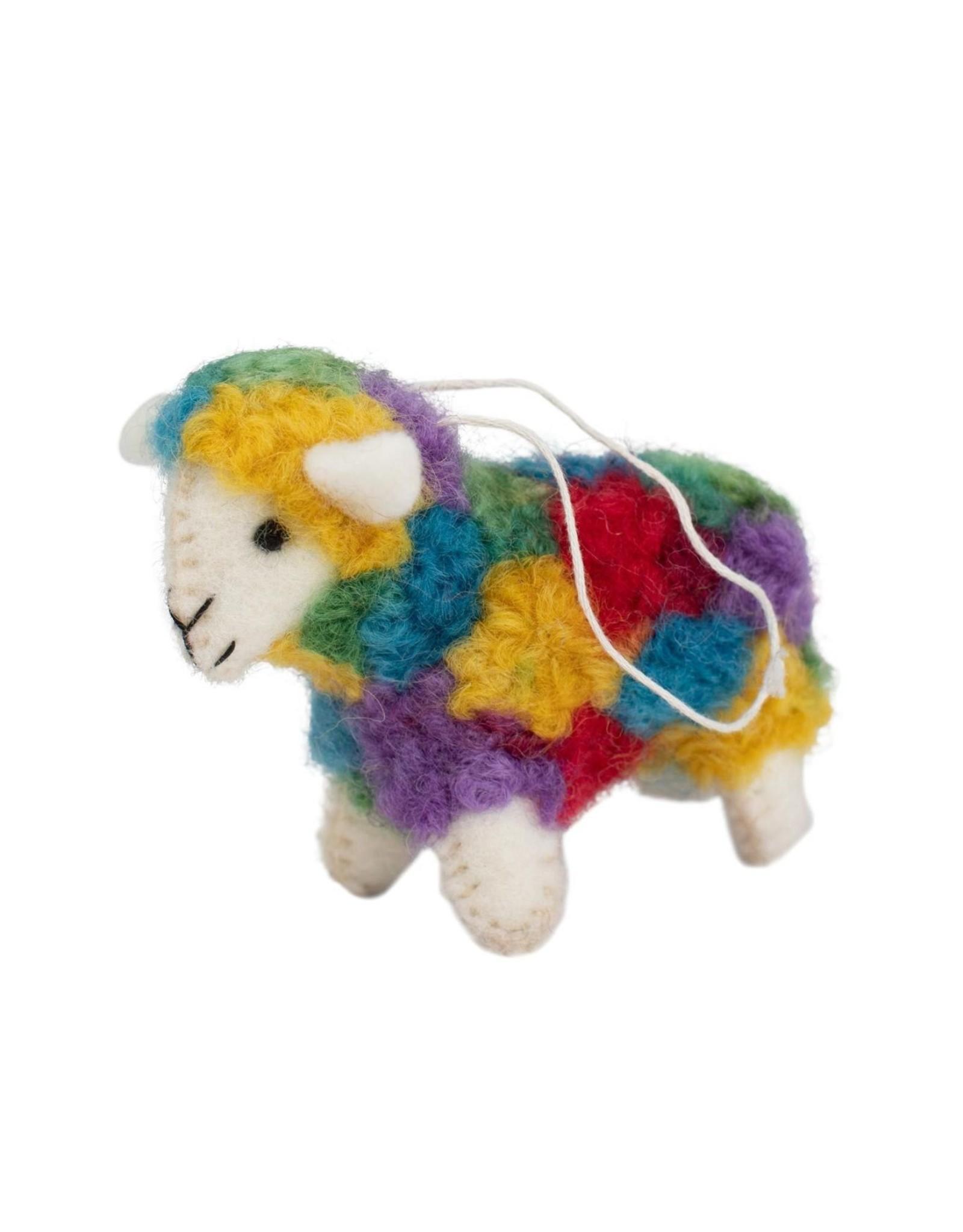Colorful Sheep Ornament