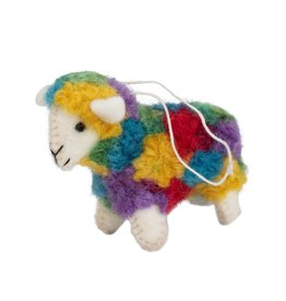 Ten Thousand Villages Colorful Sheep Ornament