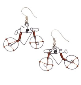 Ten Thousand Villages Cycling Whimsey Earrings