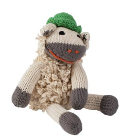 Hand-Knit Sheep Toy