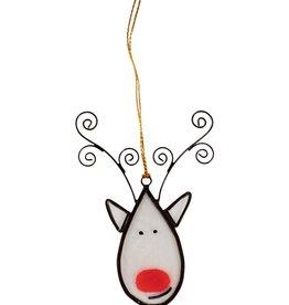 Ten Thousand Villages Reindeer Capiz Ornament
