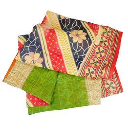 Ten Thousand Villages Sacred Sari Throw