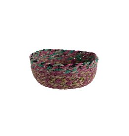 Ten Thousand Villages Swirling Sari Basket - Small