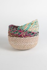 Swirling Sari Basket Small