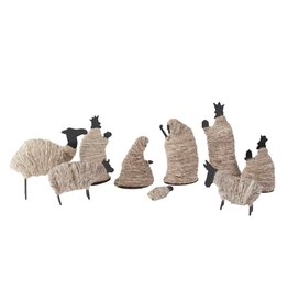 Wrapped Wool Nativity 9pc