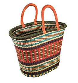 African Market Baskets V-shape Oval Basket