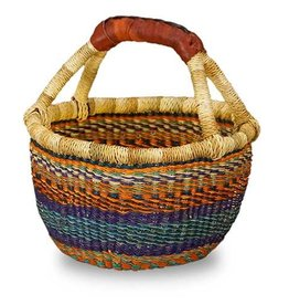 African Market Baskets Large Mini Round Basket