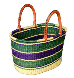 African Market Baskets Large Oval Market Basket