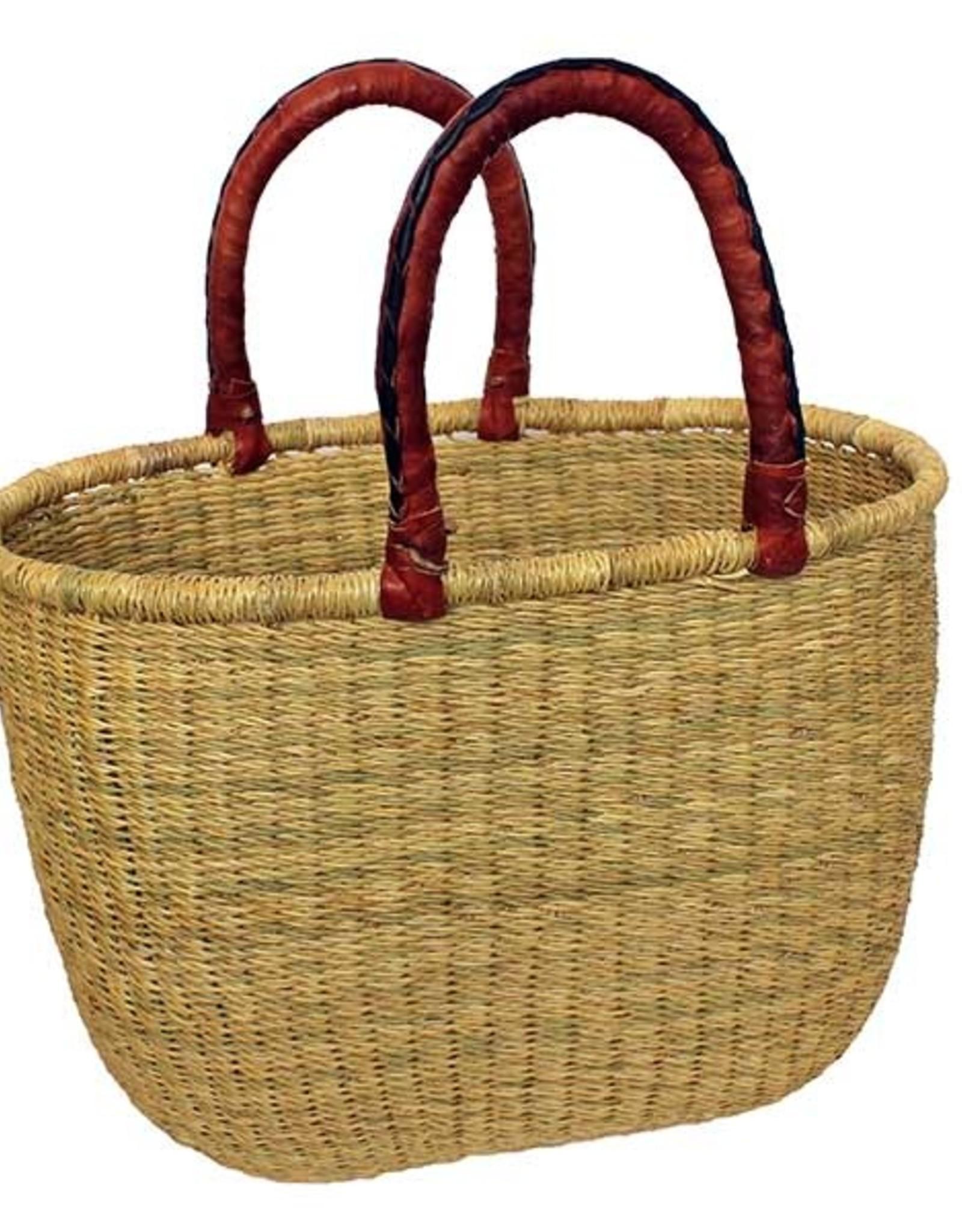 Natural  Large Oval Basket