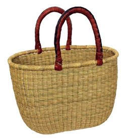 African Market Baskets Natural  Large Oval Basket