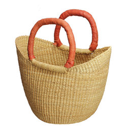 African Market Baskets Mini Shopping Tote Natural