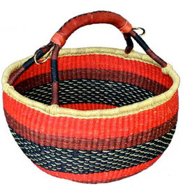 African Market Baskets Large Round Basket
