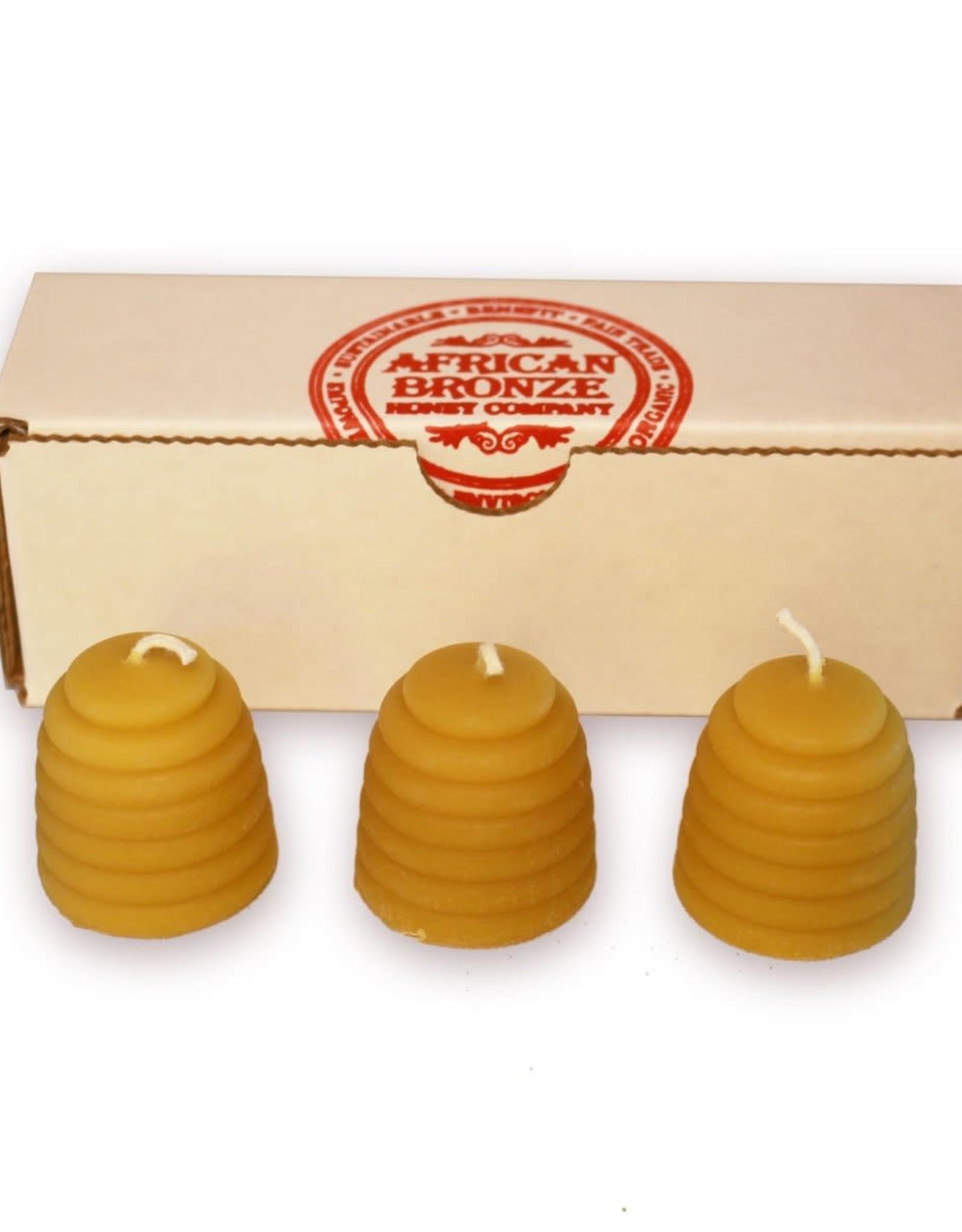 African Bronze Honey Beehive Candle Gift Set