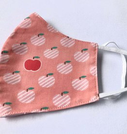 Malia Designs Apple a Day Reusable Cotton Face Masks-Youth