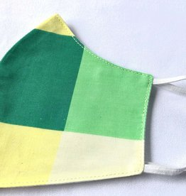Green & Yellow Reusable Cotton Face Masks-Youth