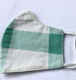 Malia Designs Mint & White Reusable Cotton Face Masks-Youth