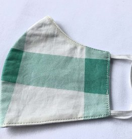 Mint & White Reusable Cotton Face Masks-Youth