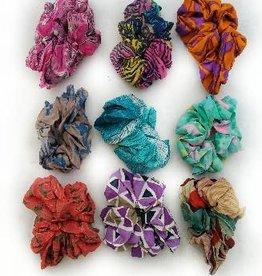 Recycled Silk Sari Scrunchy