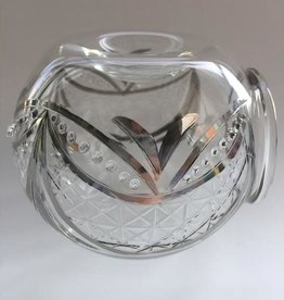 Dandarah Blown Glass Oil Diffuser - Silver Garland
