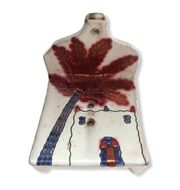 Dandarah Pottery Soap Holder - Adobe & Palm Tree