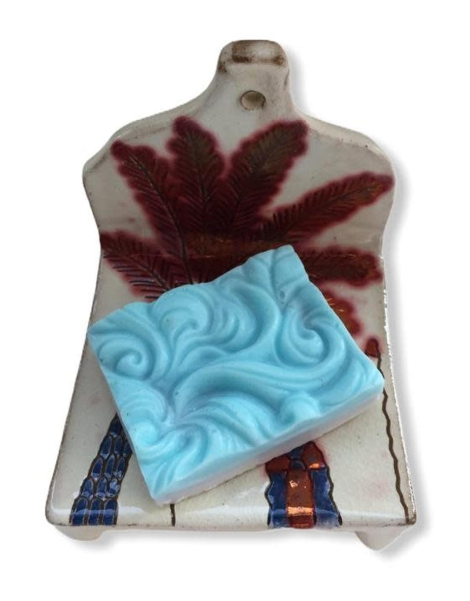 Dandarah Pottery Soap Holder - Adobe & Palm Tree