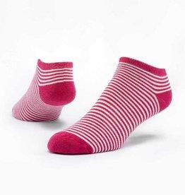 Maggie's Organics Organic Cotton Footie Socks - Pinstripe