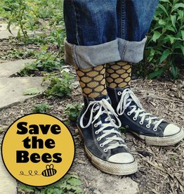 Maggie's Organics Organic Cotton Trouser Socks - Bee Keeper