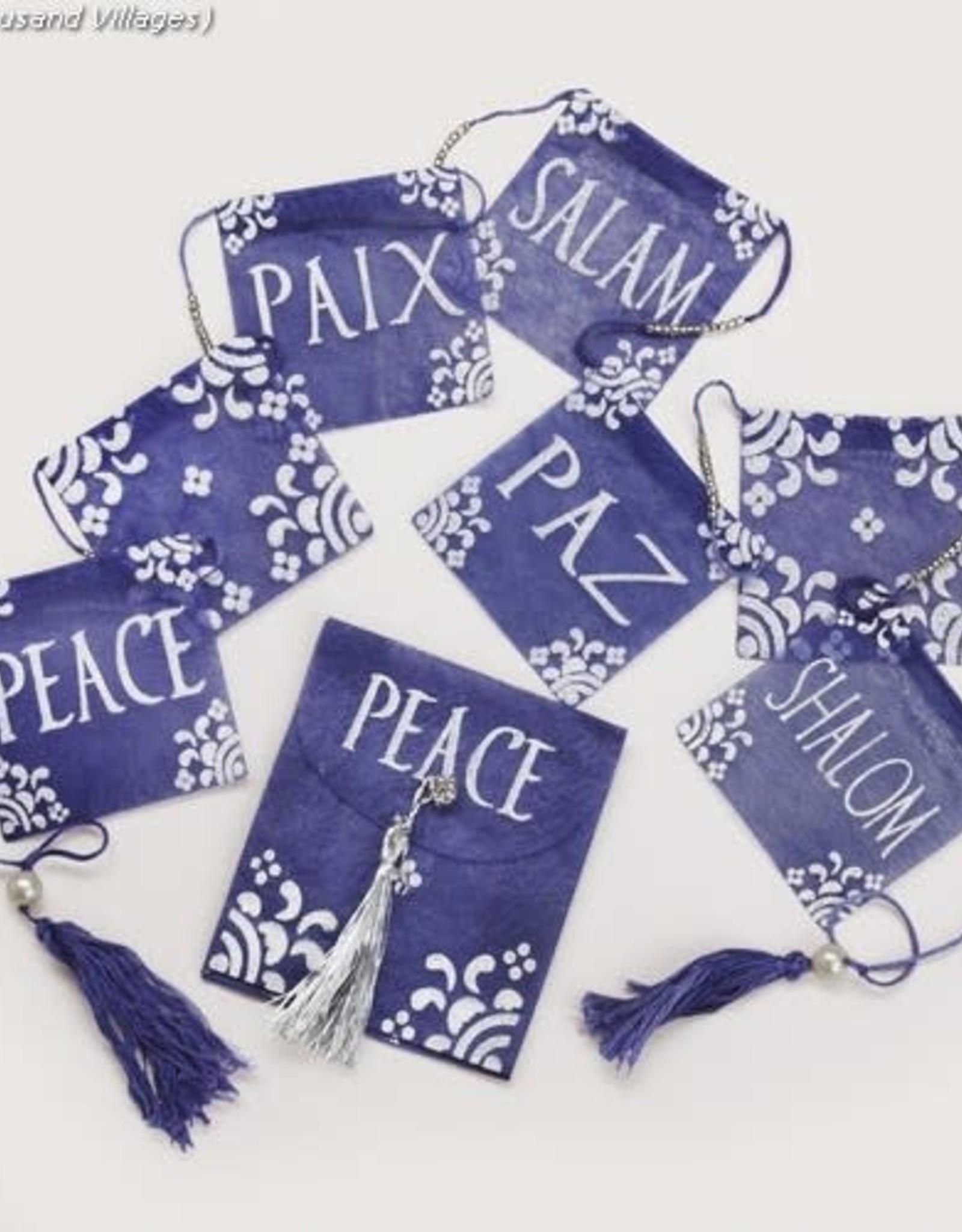 Peace Flag Garland