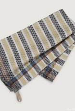 Striped Tea towel cttn yel/gry/wht