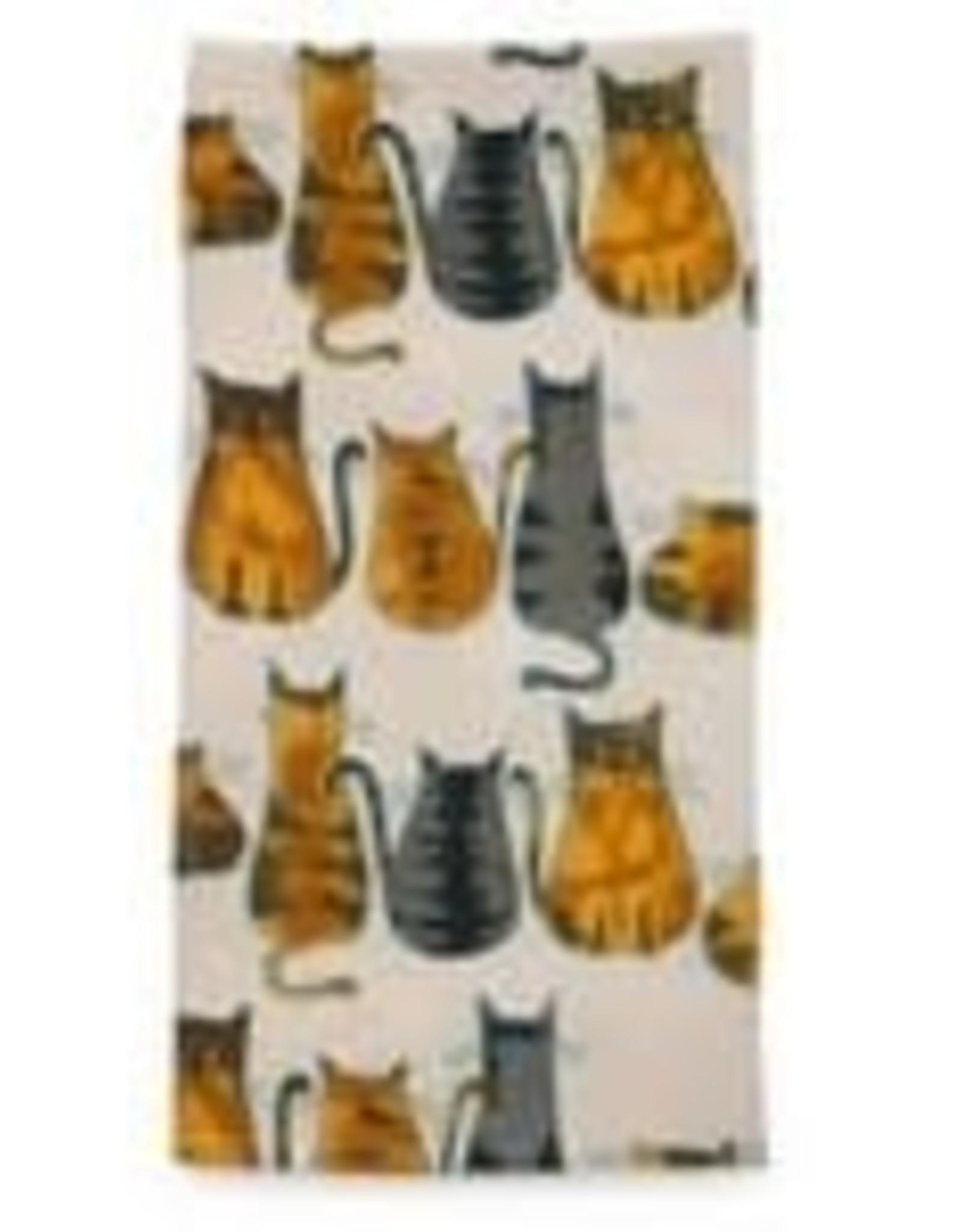 Ten Thousand Villages Cats About It Tea Towel