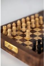 Ten Thousand Villages Wooden Travel Chess Set