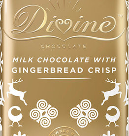 Divine Chocolate Limited Edition Milk Chocolate with Gingerbread Crisp