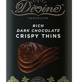 Divine Chocolate Dark Chocolate Crispy Thins