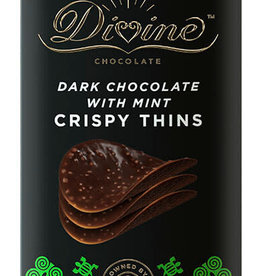 Divine Chocolate Dark Chocolate w/ Mint Crispy Thins