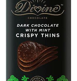 Divine Chocolate Dark Chocolate w/ Mint Crispy Thins