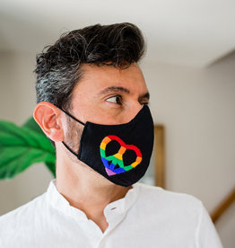Lucia's Imports Rainbow Peace Face Mask