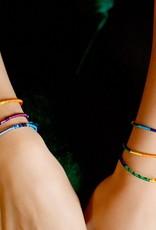 Lucia's Imports Round Silk Friendship Bracelet Rainbow
