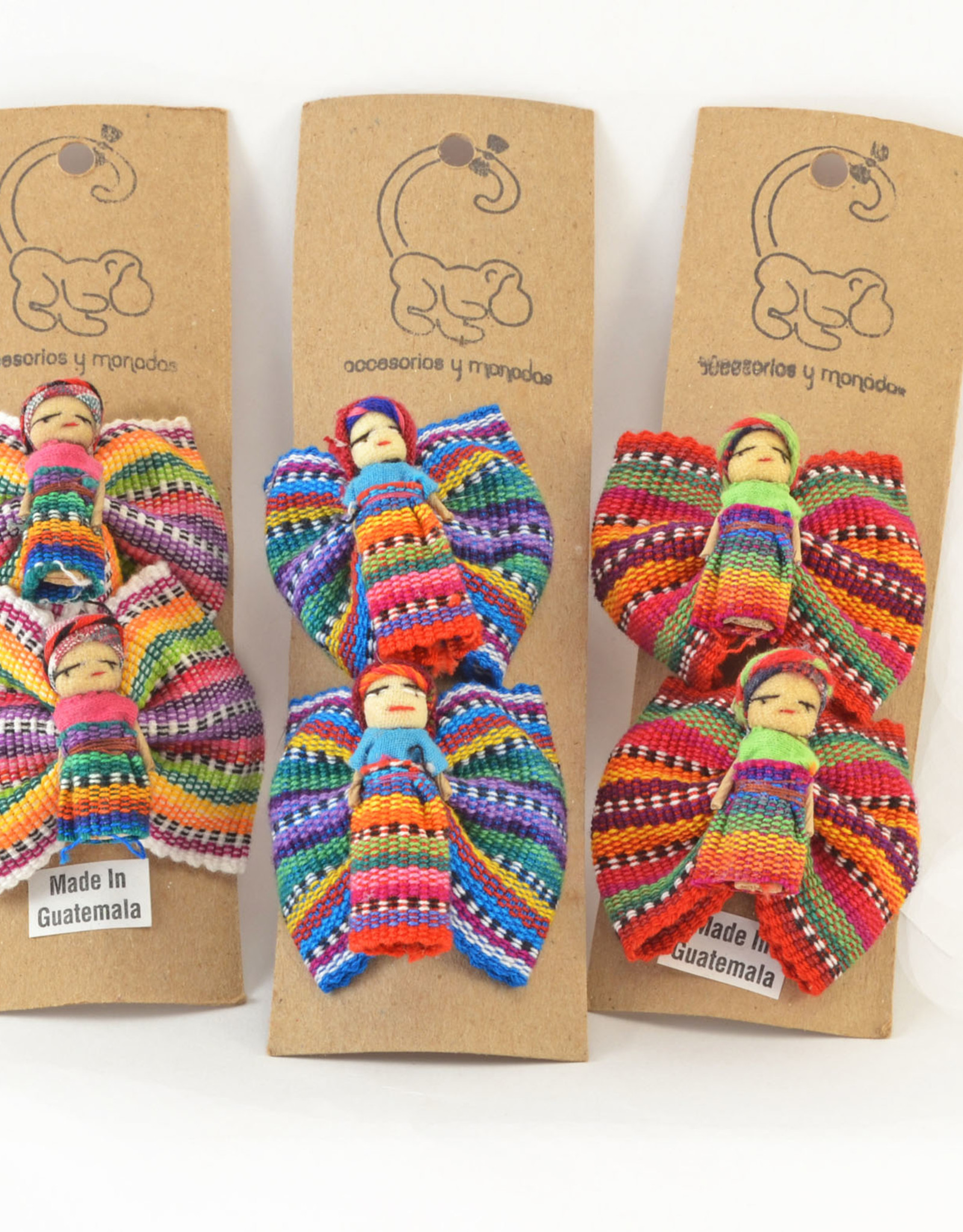 Lucia's Imports Worry Doll Barrette Set