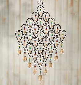 Serrv Beaded Lattice Wind Chime