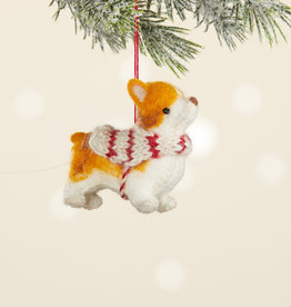Serrv Corgi Ornament